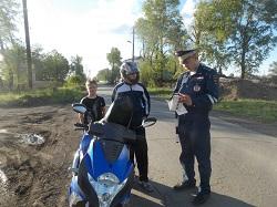 С несовершеннолетними мотоциклистами – нарушителями идет усиленная борьба!