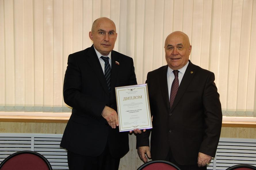 Районная Дума стала номинантом областного конкурса