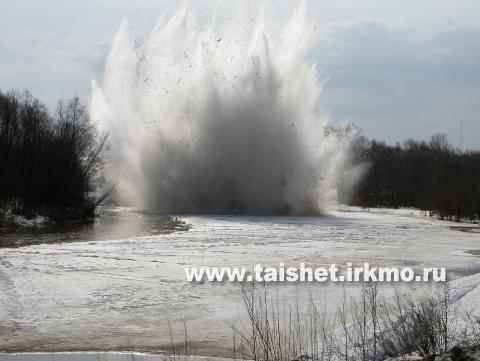 Сегодня на реках Тайшетского района начинаются взрывные работы