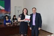 12) награждение Алешкина И.А. (Лучший ответственный по ОТ) (МКОУ СОШ №3 г.Киренска)