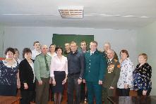 Поздравления принимали сотрудники военного комиссариата