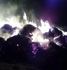 В декабре 2016 года огонь в с. Уян уничтожил 40 тонн сена