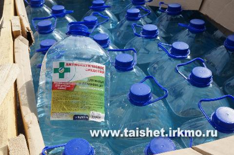 ООО «Интер» передало  Тайшетскому району 4 тыс. медицинских масок и 500 литров антисептического средства