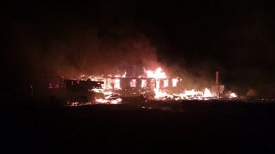 В Октябрьском за неделю сгорели два жилых дома