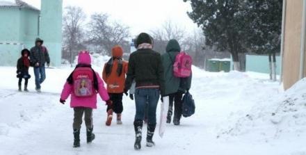 В связи с низкой температурой занятия в школах рекомендовано приостановить