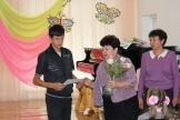 Амелин Михаил получает благодарственное письмо от председателя думы ЖМО