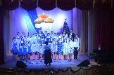 Сводный хор Лазурь исполняет песню Явление ангела пастырям