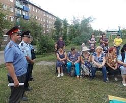 В Черемхово сотрудники полиции провели встречи с жителями города