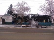 Пожар уничтожил кафе «Сказка» и магазин «Мясная лавка»