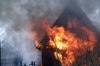 В дачном домике сгорел человек