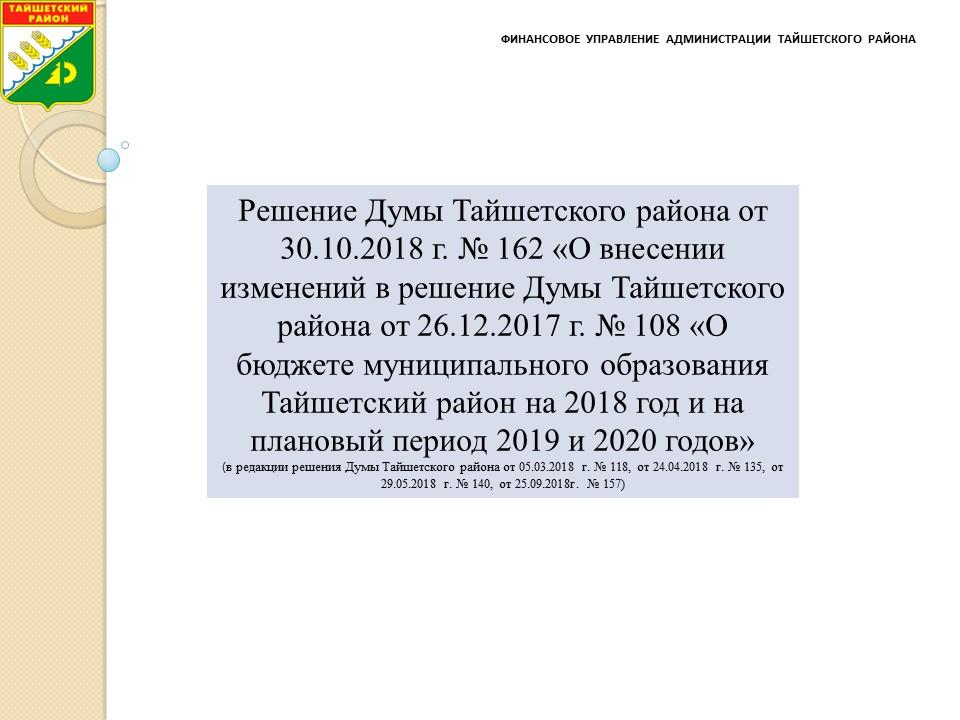 ИЗМЕНЕНИЯ БЮДЖЕТА (решение Думы октябрь 2018г.).jpg