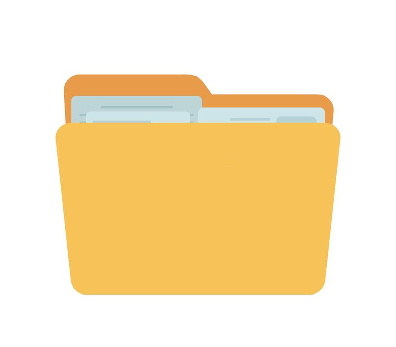 vector-полная-папка-желтый-контейнер-для-документов-124267586.png