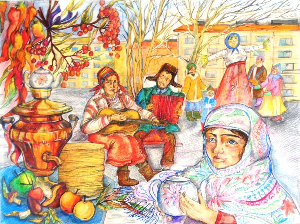 Гундар Ксения Масленица, Тайшетская детская художественная школа.JPG