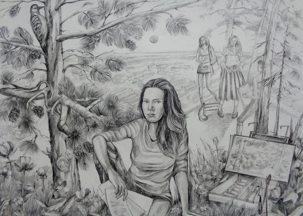 Морозовав Елизавета, На пленэре, Тайшетская детская художественная школа.JPG