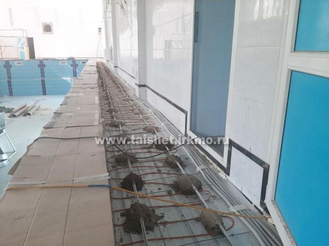 Реконструкция бассейна в Тайшете близка к завершению