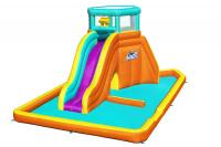 Водный игровой-центр Tidal Tower Bestway 53385 BW с разбрызгивателем и горкой 565х373х265см