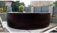Круглый бассейн Лагуна ТМ235/24411 Темный шоколад (RAL 8017)