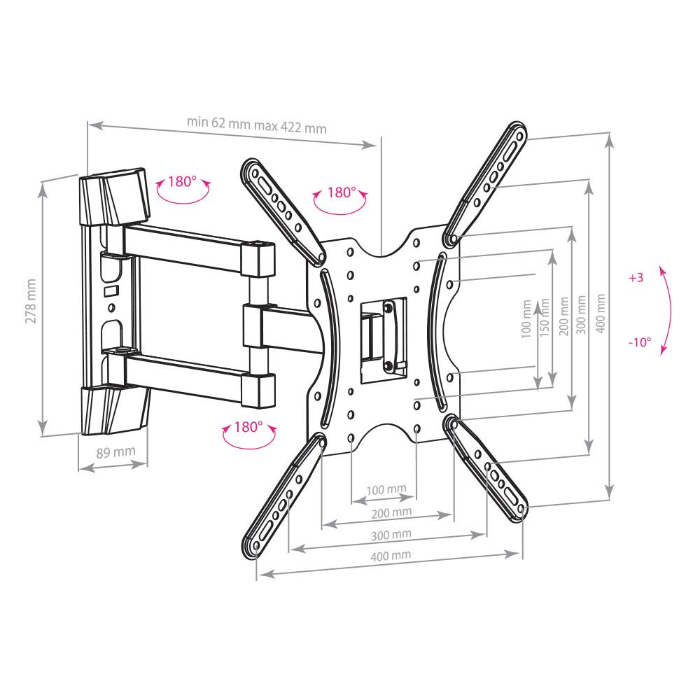 Кронштейн для LED/LCD телевизоров Arm Media LCD-404 black
