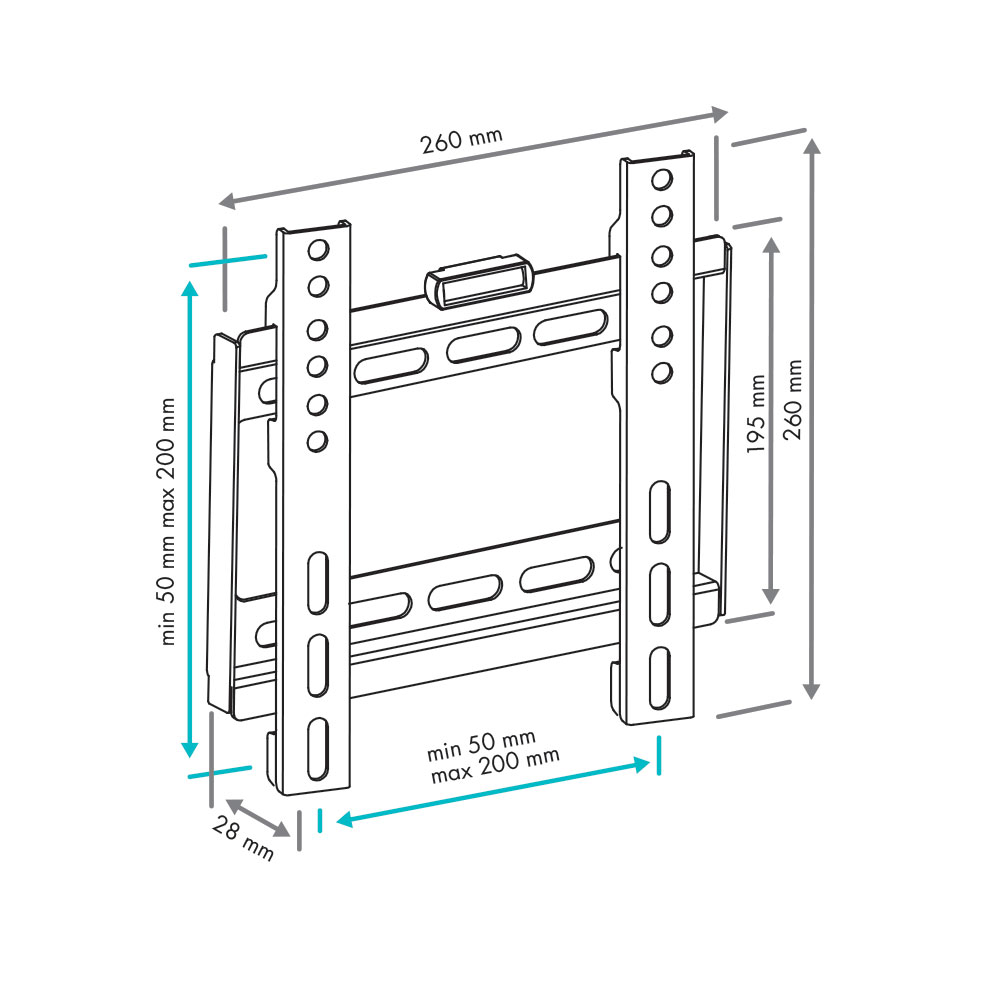 Настенный кронштейн для телевизоров VLK TRENTO-35 BLACK