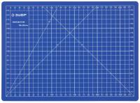 """Коврик Зубр """"Эксперт"""", непрорезаемый, 3мм, цвет синий, 300х220 мм 09903"""
