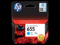 HP 655, Оригинальный картридж HP Ink Advantage, Голубой (CZ110AE)