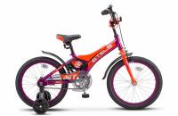 """Велосипед Stels 16"""" Jet (9"""" фиолетовый/оранжевый)"""