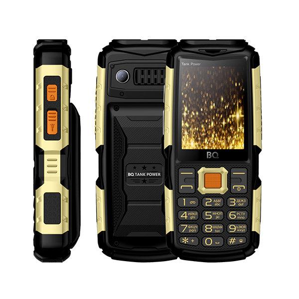 Сотовый телефон BQ 2430 Tank Power Black+Gold