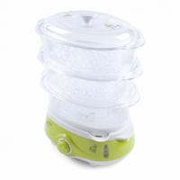 Пароварка электрическая Endever Vita-171 белый/зеленый