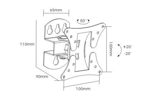 Настенный кронштейн для телевизоров Arm Media LCD-101