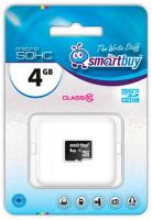 Карта памяти micro SDHC Smartbuy 4GB class 10 (без адаптеров)