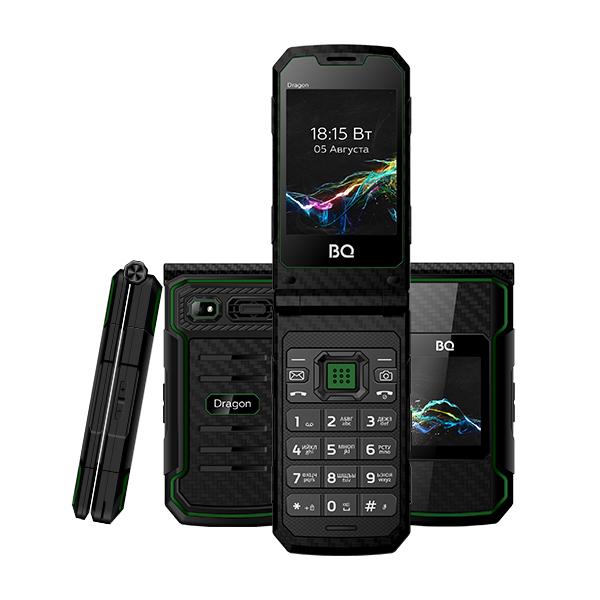 Сотовый телефон BQ 2822 Dragon Black+Green