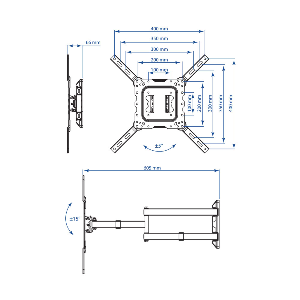 Кронштейн для LED/LCD телевизора Kromax DIX-18 white