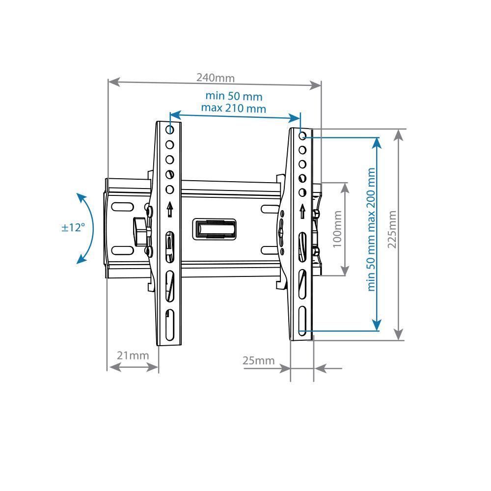 Кронштейн для LED/LCD Arm media PLASMA-6 blac