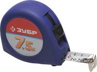 """Рулетка Зубр 34016-8 """"СТАНДАРТ"""", корпус с резиновым напылением, 7,5м/25мм"""