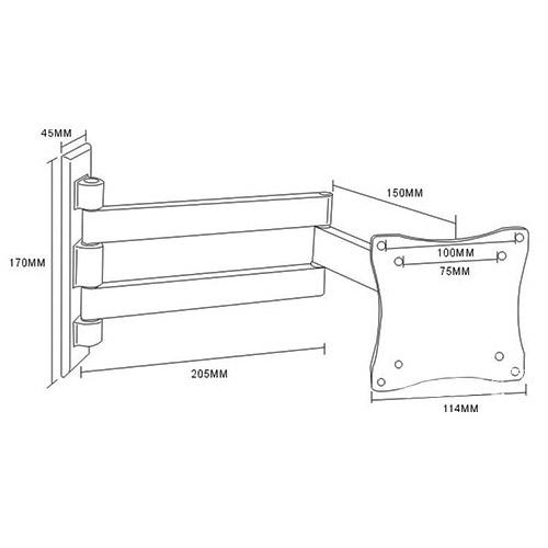 Кронштейн для LED/LCD телевизора Arm Media LCD-7101 silv