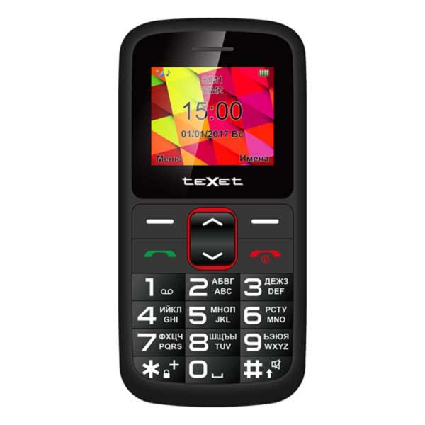 Сотовый телефон Texet TM-B217 черный-красный
