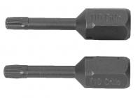"""Биты Kraftool """"ЕХPERT"""", C 1/4"""", Т30, 25 мм, 2 шт, 26125-30-25-2"""
