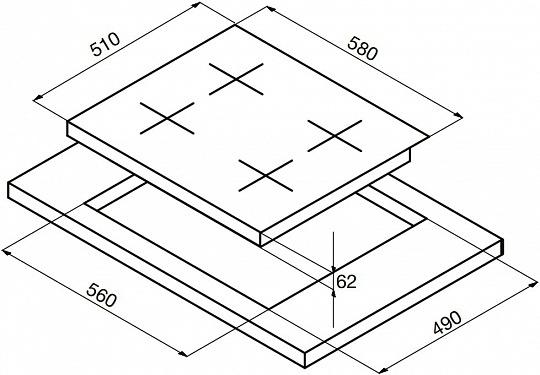 Электрическая варочная панель Korting HK 60001 BW
