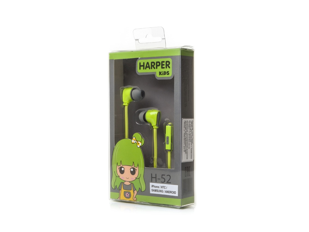 Наушники Harper Kids H-52 green