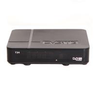 Ресивер эфирный цифровой DVB-T2 HD T34 дисплей