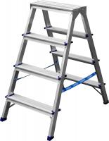 Лестница-стремянка Сибин двухсторонняя алюминиевая, 4 ступени 38825-04