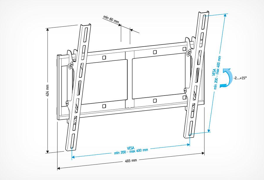 Кронштейн Holder LCD-T4609 черный