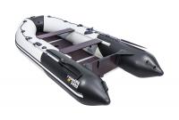 """Лодка ПВХ """"Ривьера 3400 СК"""" Л-411 Компакт Комби светло-серый/черный"""