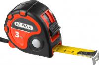 Рулетка Mirax 3 стопора, двухкомпонентный пластиковый корпус, 3мх16мм 34013-03-16