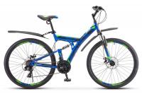 """Велосипед Stels 27,5"""" Focus MD 21-sp (19"""" синий/неоновый зелёный)"""
