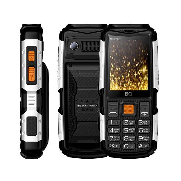 Сотовый телефон BQ 2430 Tank Power Black+Silver