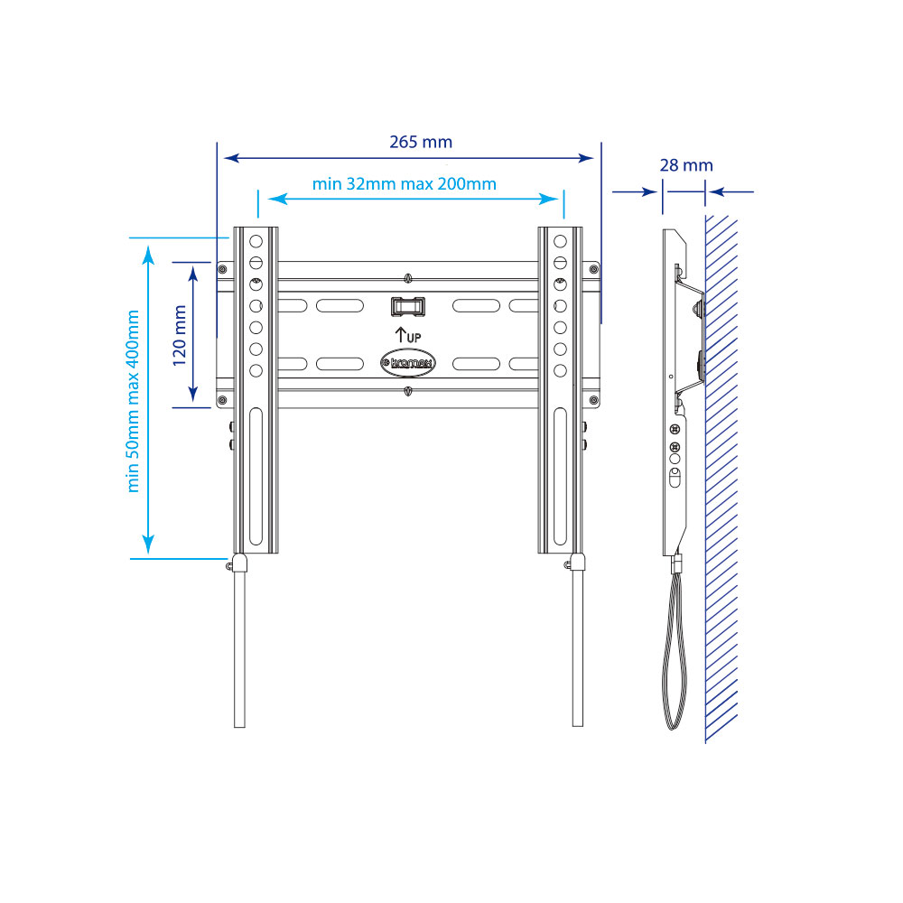 Кронштейн для LED/LCD телевизора Kromax FLAT-5 new black