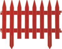 """Забор декоративный Grinda 422201-T """"КЛАССИКА"""", 28x300см, терракот"""
