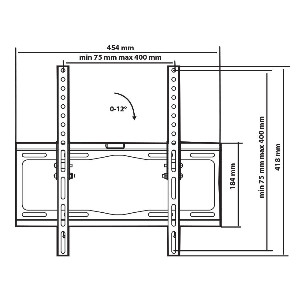 Настенный кронштейн для телевизоров Tuarex OLIMP-114 BLACK