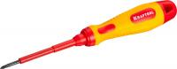 Отвертка Kraftool 250084-0-060, высоковольтная, Cr-Mo-V стержень, двухкомпонент. маслобензостойкая рукоятка, PH №0, 60мм